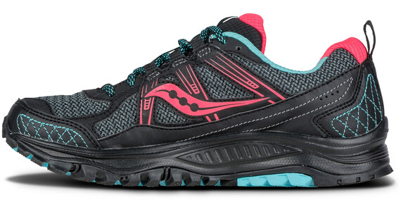 saucony Excursion TR 10 Running Shoes Women Black/Coral/Blue